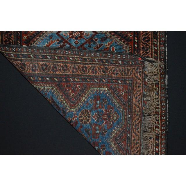 Antique Persian Khamseh Tribal Rug - 2′8″ × 3′9″ - Image 7 of 7