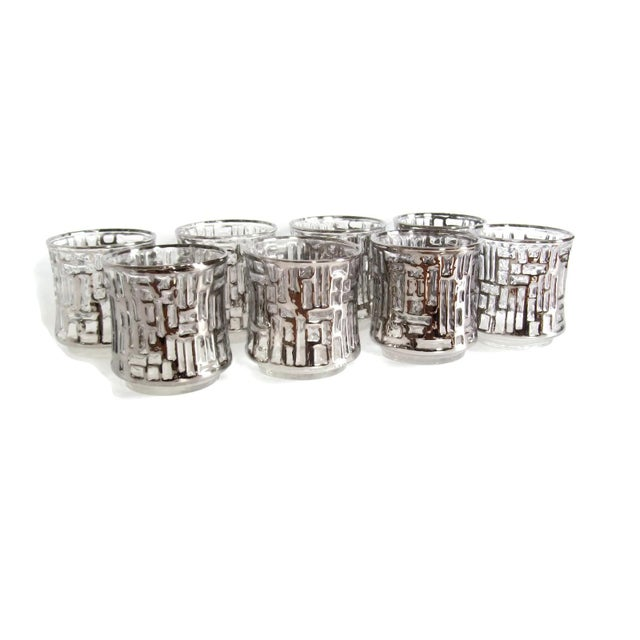 Mid-Century Artica Lowball Glasses, Silver Bamboo - Image 7 of 7
