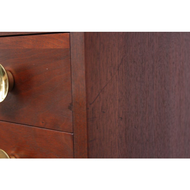 Midcentury Walnut and Brass Gentleman's Chest after Paul McCobb - Image 3 of 9
