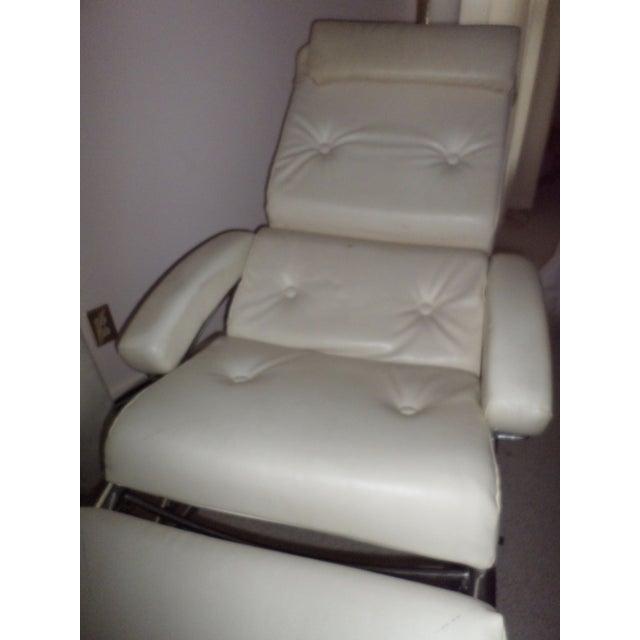 Vintage 1960s Lama Chrome Lounge Massage Chair - Image 6 of 7