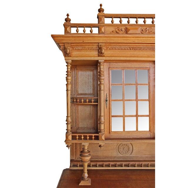 Image of Antique Ornate Carved Oak Buffet