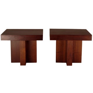 Milo Baughman Mid-Century Occasional Tables - A Pair