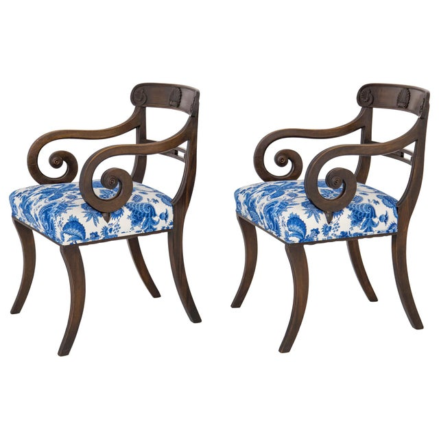 English Regency Carved Armchairs - A Pair - Image 10 of 10