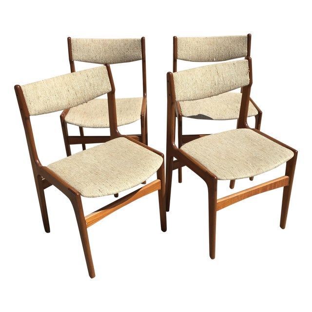 Mid-Century Modern Danish Dining Chairs - Set of 4 - Image 1 of 10