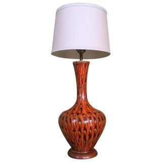 Mid-Century Modern Drip Glaze Ceramic Table Lamp