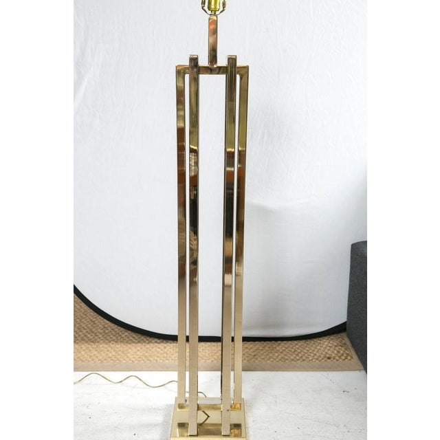 Milo Baughman Brass Deco Floor Lamp - Image 5 of 9