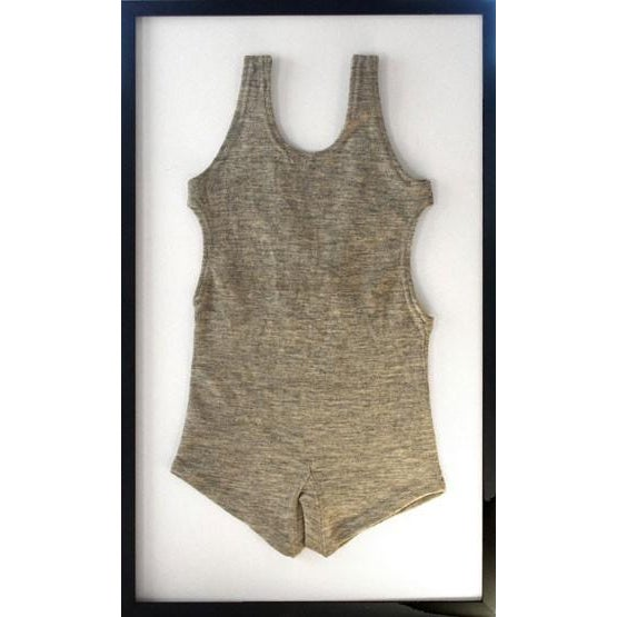 Framed 1930s Tahoe Men's One-Piece Bathing Suit - Image 1 of 2