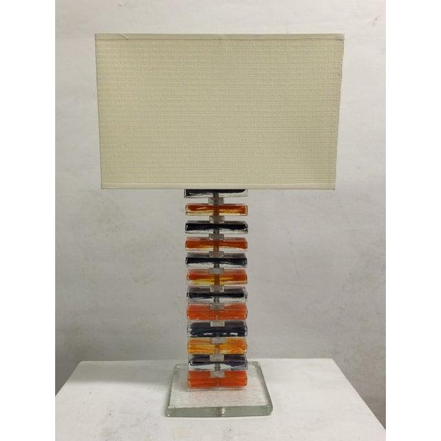 Murano Geometric Table Lamps - Pair - Image 2 of 6