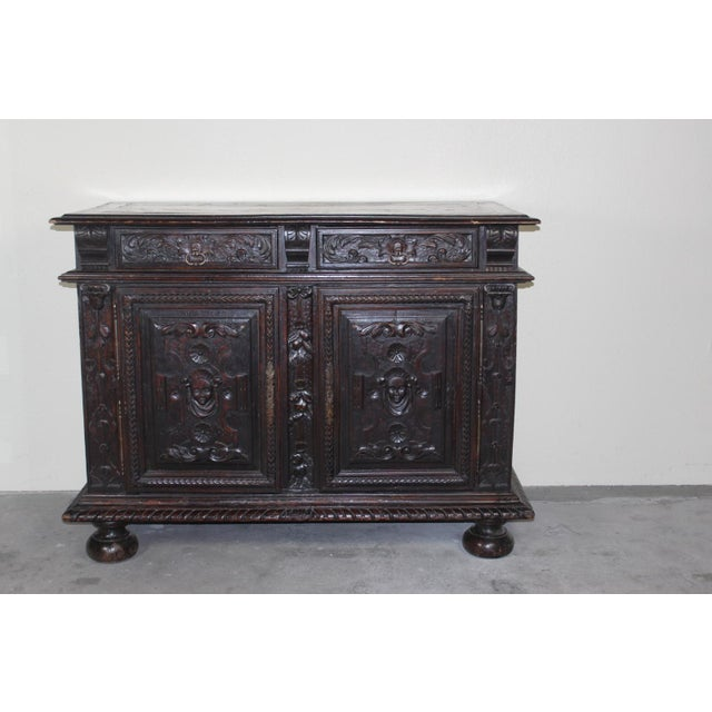 Antique 19th C. French Walnut Buffet - Image 2 of 5