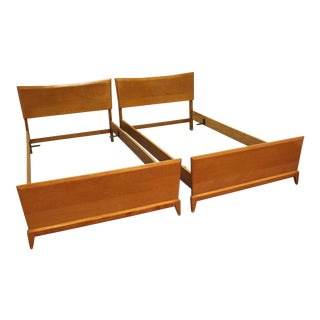 Heywood Wakefield Mid-Century Twin Size Bed Frames - A Pair