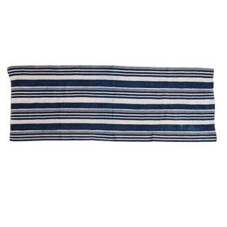 Striped Indigo Throw