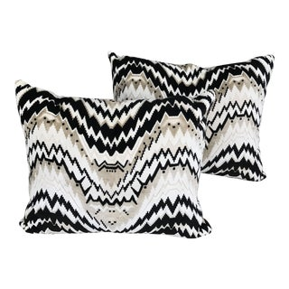 Vintage Custom Chevron Pillows - A Pair