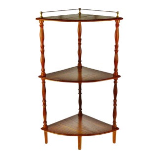 Vintage Wood 3 Tier Corner Shelf