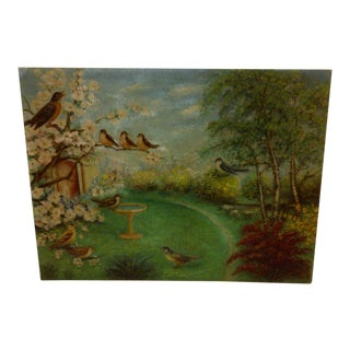 'Singing Birds' Original Painting on Board