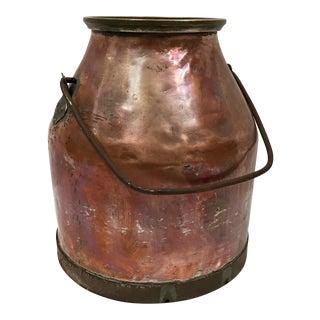 Large Antique French Copper Pot cPlanter