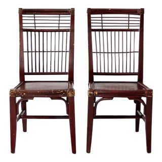 Antique Chinese Chairs   A Pair. Gently Used   Vintage Asian Antique Decor for Sale at Chairish
