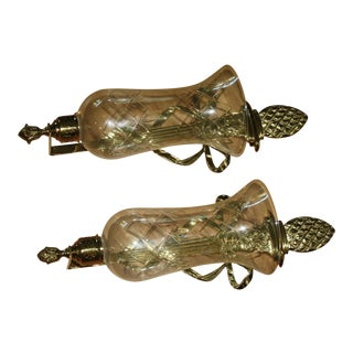 Brass Pinecone Wall Sconces - A Pair