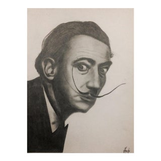 Salvador Dali Pencil Illustration