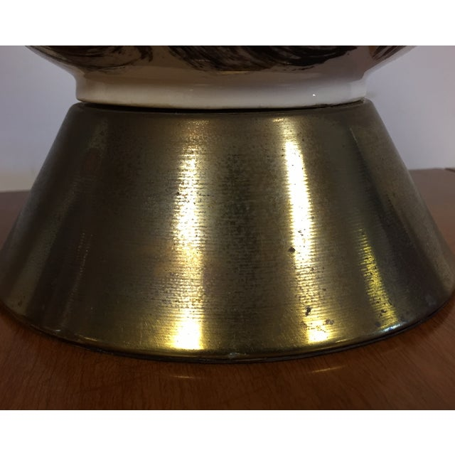 Mid Century Brass Corkscrew Table Lamps - A Pair - Image 10 of 10