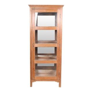 Teak Glass Paneled Cabinet