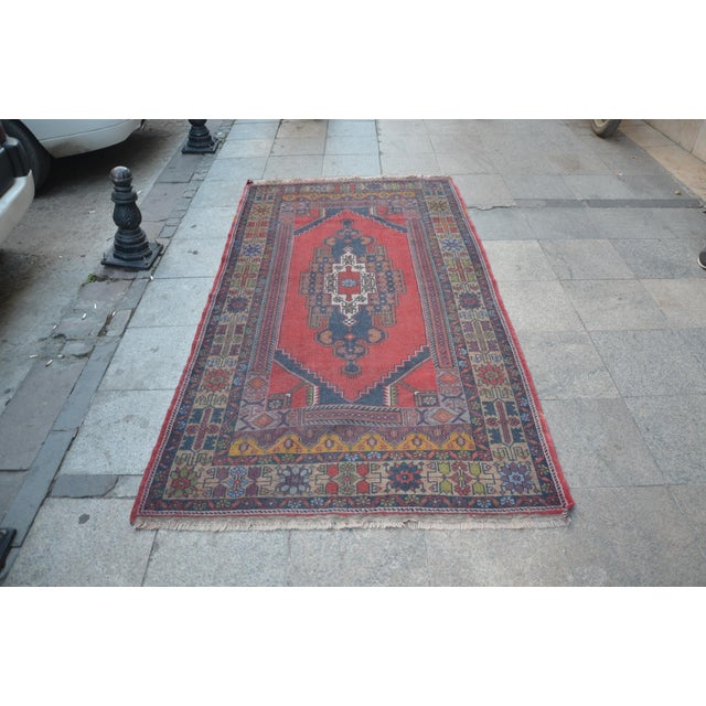 Turkish Handmade Floor Rug - 4′5″ × 8′3″ - Image 2 of 6