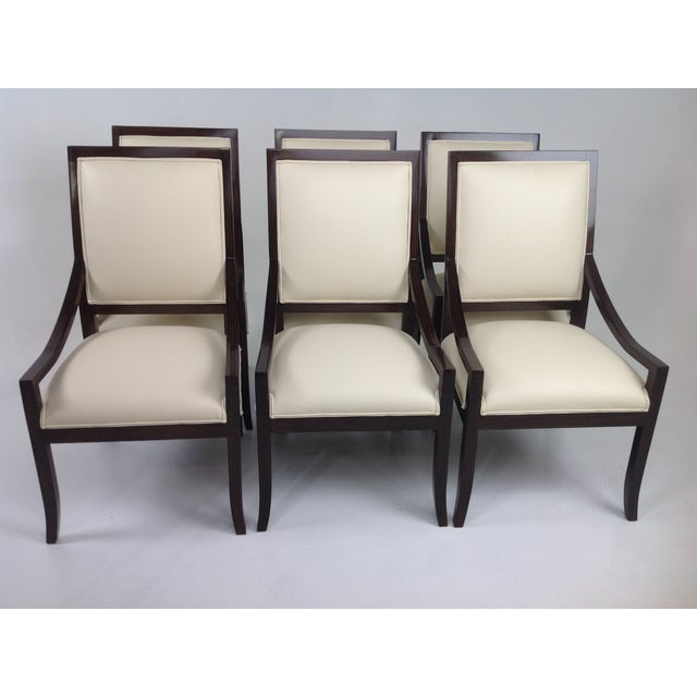 Modern mid century custom dining chairs s 6 chairish for Modern dining chairs ireland