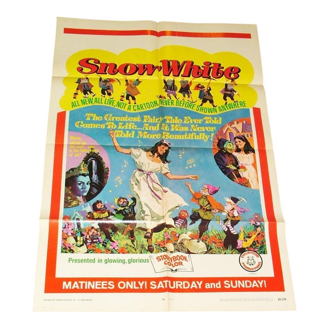 Original Vintage 1965 Snow White Movie Poster | Chairish