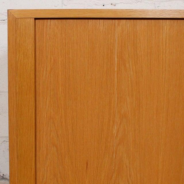 Modern Oak Cabinet Doors : Danish modern oak drawer tambour door cabinet chairish