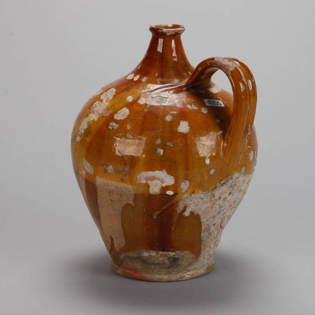 Antique French Pottery Jug with Yellow Glaze - Image 5 of 7