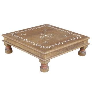 Vine Motif Inlaid Floor Table