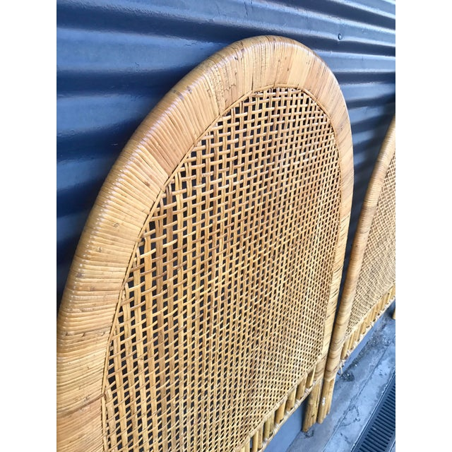 Vintage Rattan Caning Twin Headboards - A Pair - Image 9 of 10