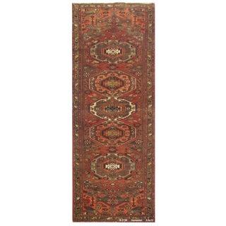 """Vintage Persian Hamedan Runner Rug - 3'5"""" x 13'"""