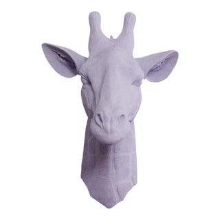 Wall Charmers Faux Lavender Purple Giraffe Head Wall Sculpture