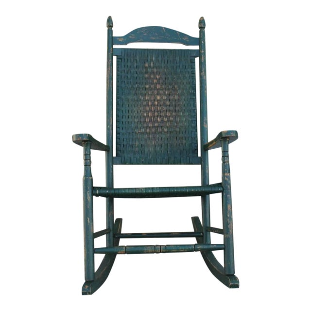 Image of Early 20th Century Original Green Painted Rocking Chair