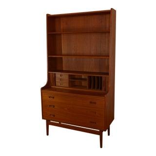 Bornholm Danish Modern Teak Secretary/Bookcase