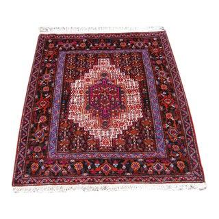 Hand Woven Persian Sanandaj - 4′1″ × 4′4″
