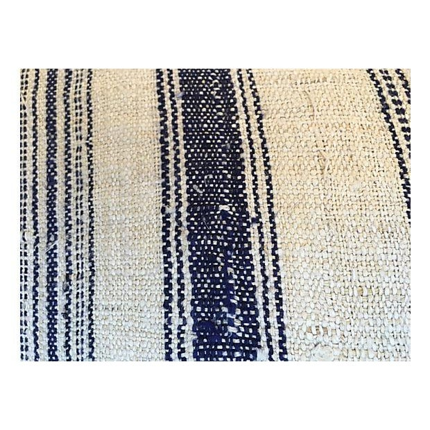 Nubby Homespun Striped Linen Pillow - Image 4 of 5