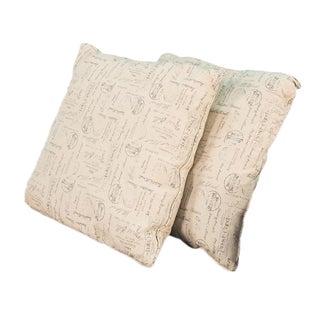 Sarreid Ltd. Transitional Beige Pillows - A Pair