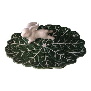 Lettuce Leaf With Bunny Serving Plate