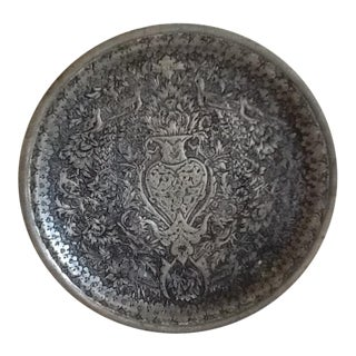 Vintage Bohemian Carved Pewter Tray