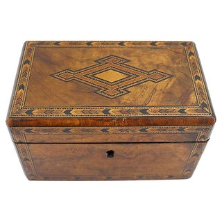 Antique English Tunbridge Inlaid Tea Box