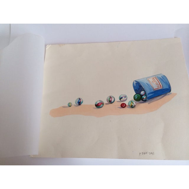 Watercolor Marbles Advertising Lithograph - Image 2 of 5