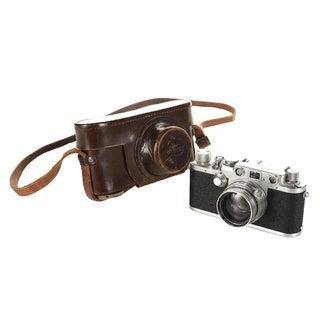 Vintage Leica IIIF Black Dial Camera