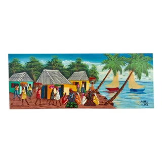 Colorful Signed Haitian Painting