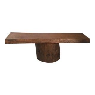 Slab on Base Coffee Table