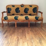 Image of African Print Seashell Print Sofa