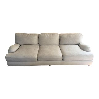 Beige English Roll Arm Sofa