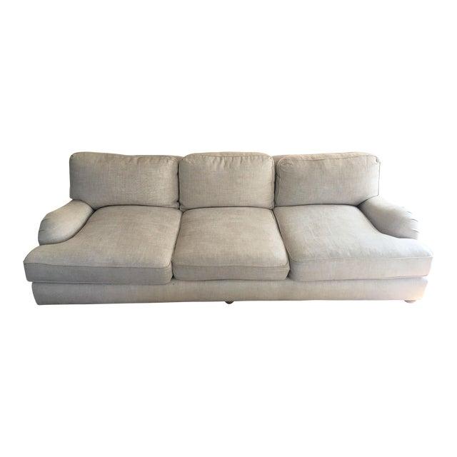 Beige English Roll Arm Sofa