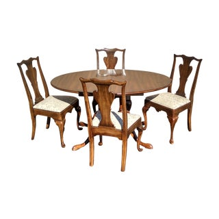 1970s Vintage Solid Cherry Dining Set