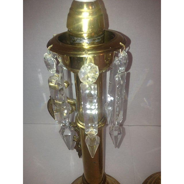 Brass Push Up Hurricane Candle Holders - Pair - Image 6 of 8